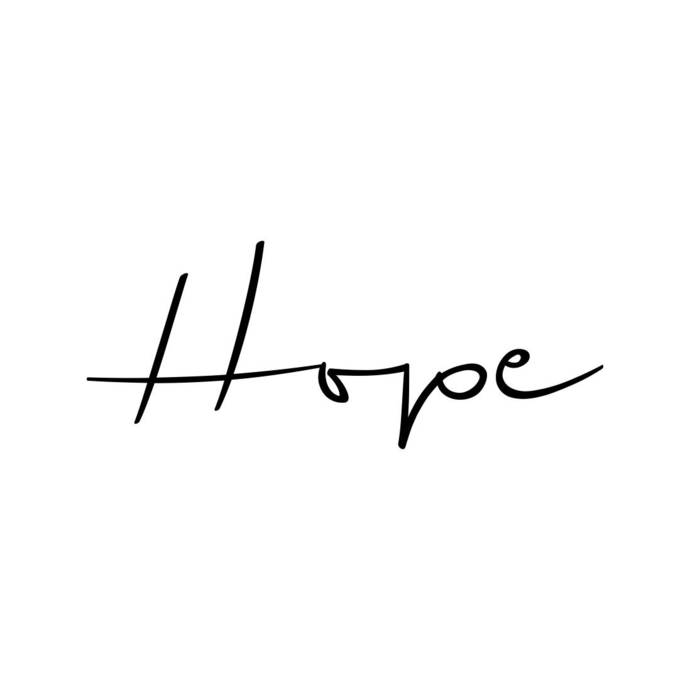 Hope Word Phrase Graphics SVG Dxf EPS Png Cdr Ai Pdf Vector Art Clipart  instant download Digital Cut Print File Cricut Silhouette Decal.