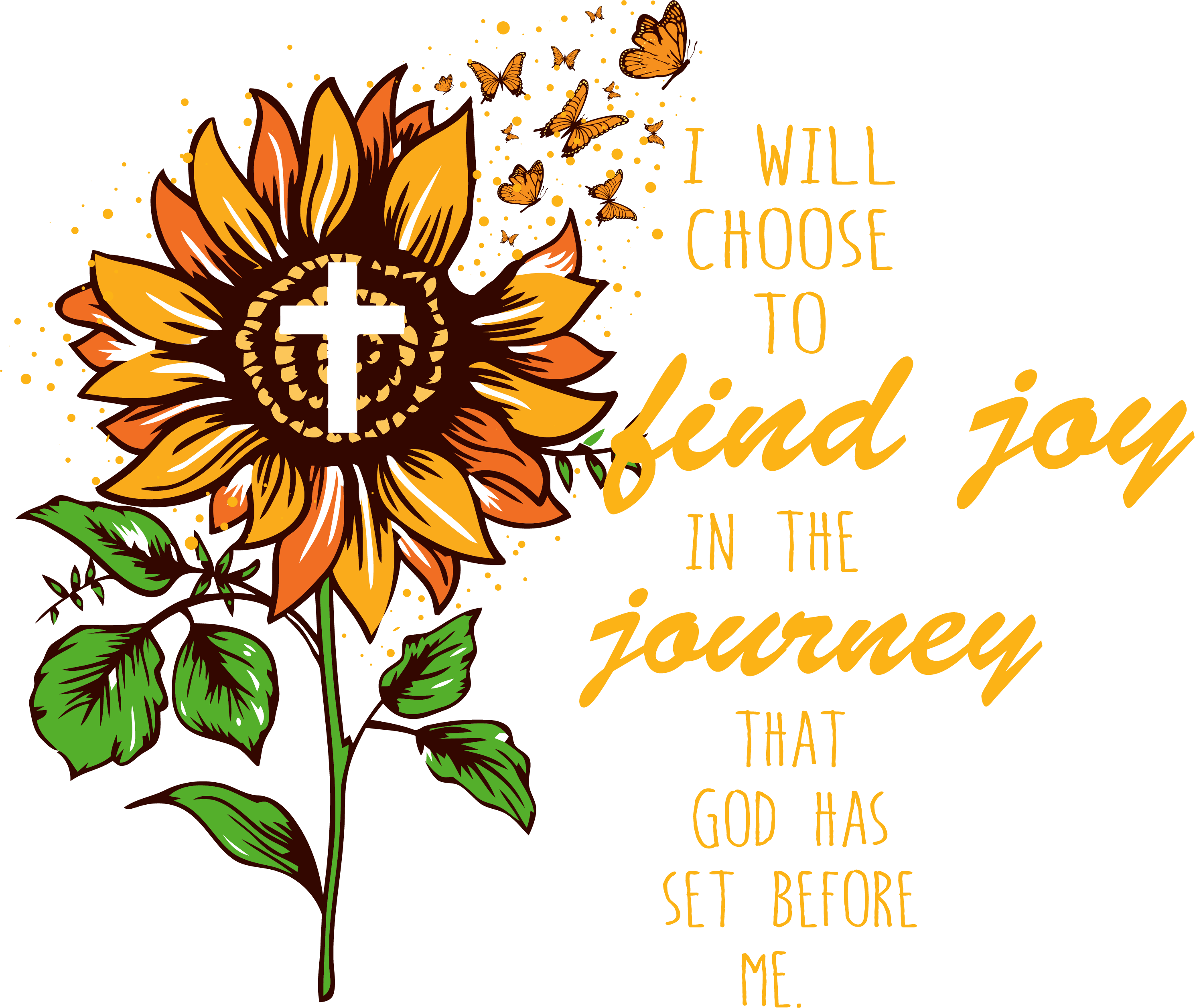 I will choose to find joy, sunflower svg, faith hope love.