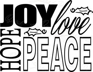 Amazon.com: Diuangfoong Hope Joy Love Peace Christmas.