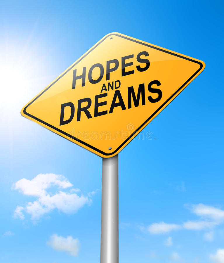 Hopes Dreams Stock Illustrations.
