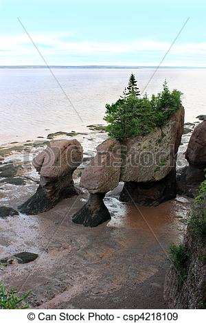 Stock Photographs of Hopewell Rocks, New Brunswick, Canada.
