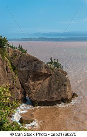 Picture of Flower Pot Rock formations at the Hopewell Rocks (New.