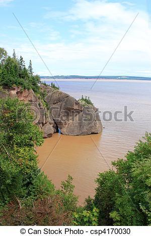 Stock Photography of Hopewell Rocks, New Brunswick, Canada.