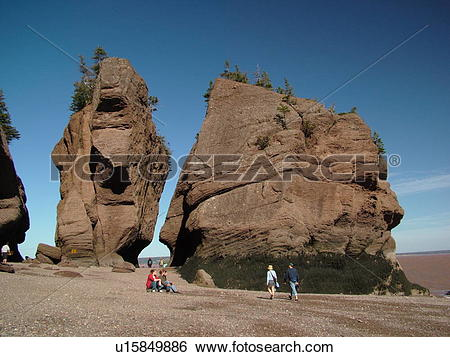 Stock Images of Canada, New Brunswick, Bay of Fundy, Hopewell Cape.
