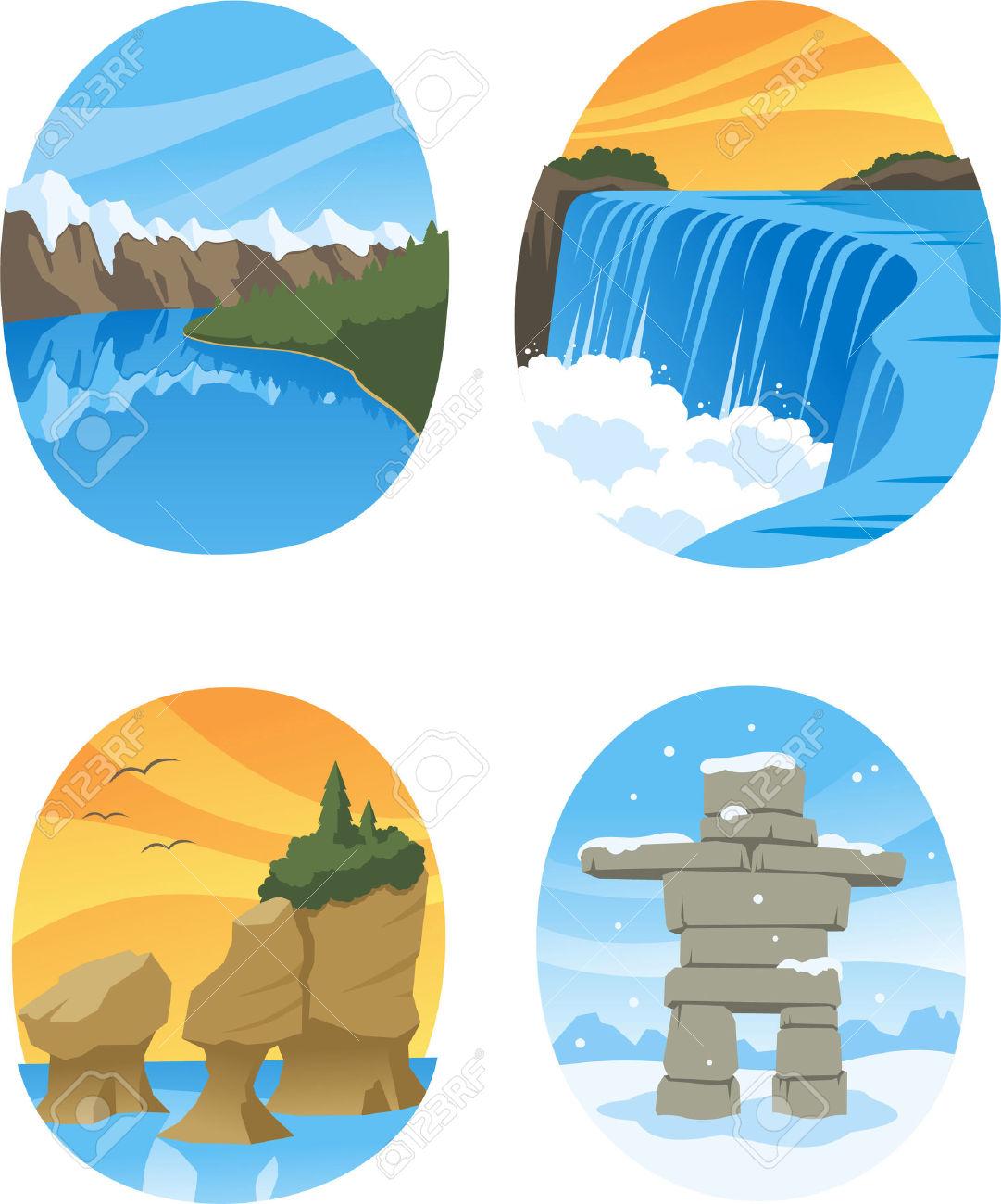 Canadian Nature Landmarks Canada Landmark, With Hopewell Rocks.