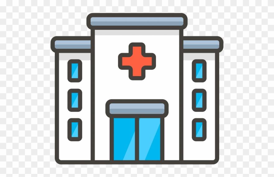 Hospital Emoji Icon.
