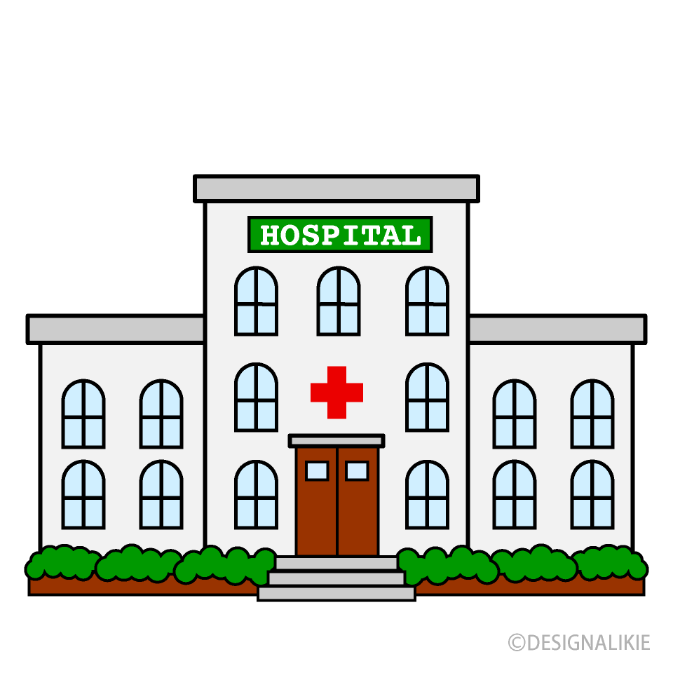 Free Cute Hospital Clipart Image|Illustoon.