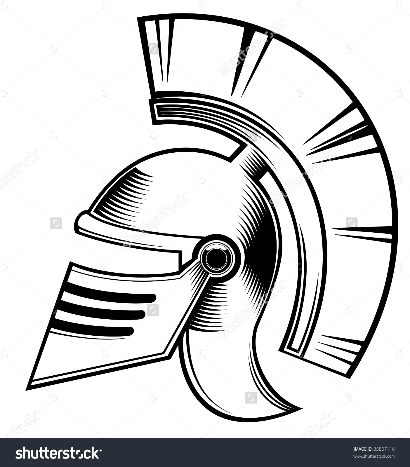 Hoplite Helmet Stock Vector Illustration 35807116 : Shutterstock.