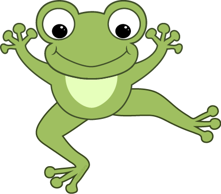 Download Free png Cute hopping frog clipart fre.