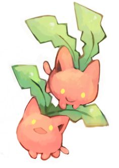 Jumpluff, Skiploom and Hoppip.