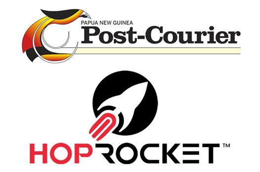 Post Courier promotes hoprocket while bank of PNG issues warning.