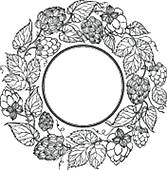 Clipart of Black circle of fruit hops k19103604.