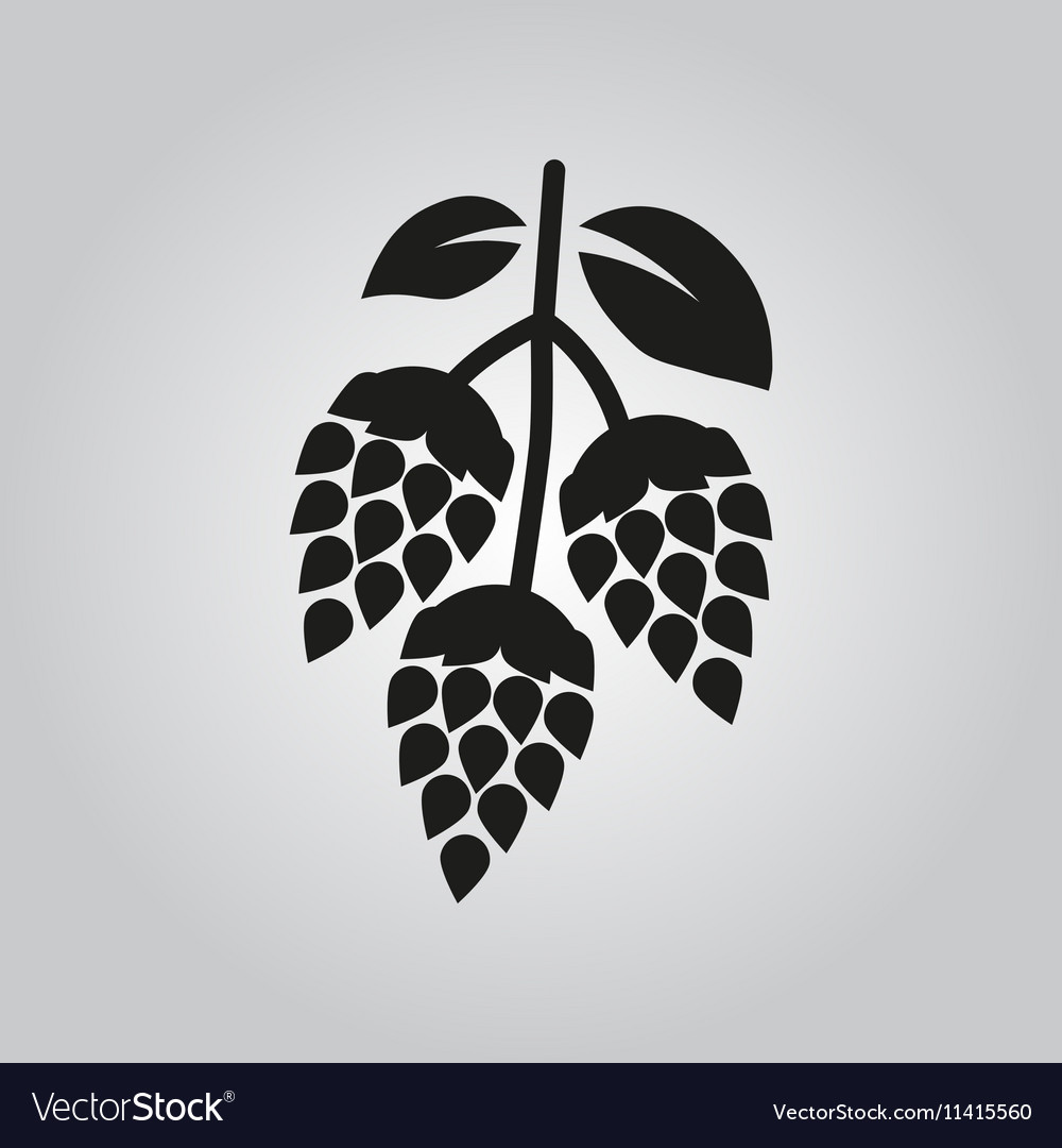 Hops icon Beer and hop symbol UI Web Logo.