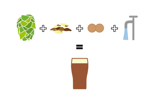 hops water malt yeast clipart #10