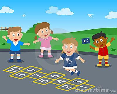 Hopscotch Stock Illustrations.