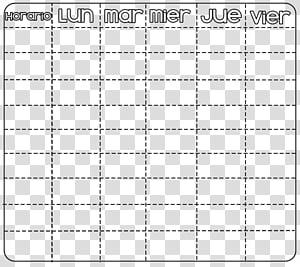 Horario para mi tutorial, Calendar illustration transparent.