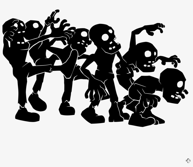 Zombie Horde Clipart Png Transparent Download.