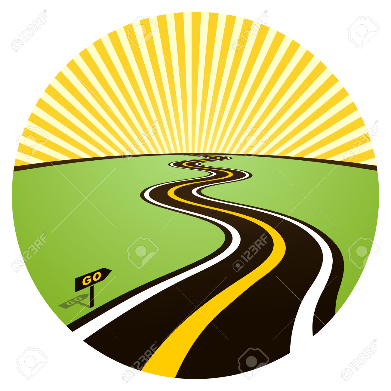 Road Horizon Clipart.