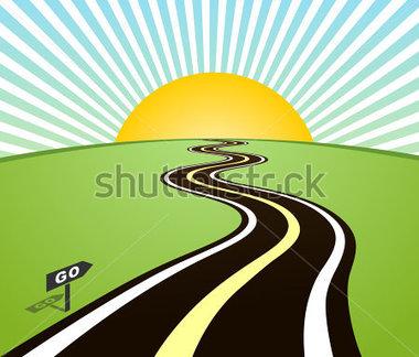 Road horizon clipart.