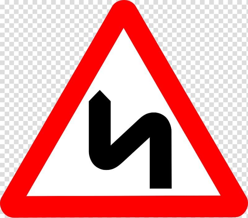 Road sign , Zigzag Road Warning Road Sign transparent.
