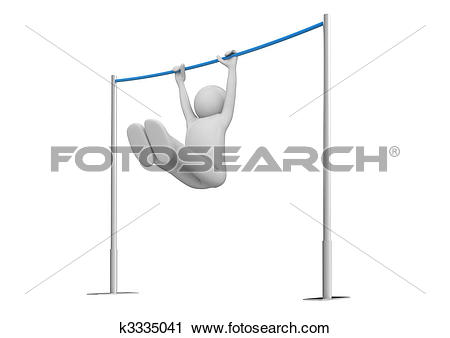 Clipart of Athlete on horizontal bar k3335041.