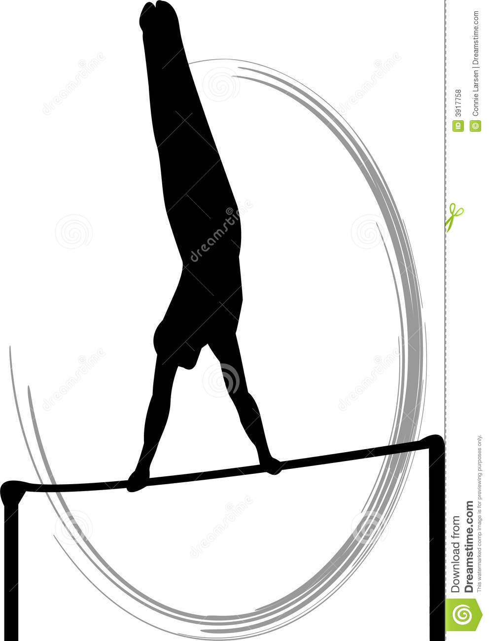 Men's Gymnastics Horizontal Bar Royalty Free Stock Photos.