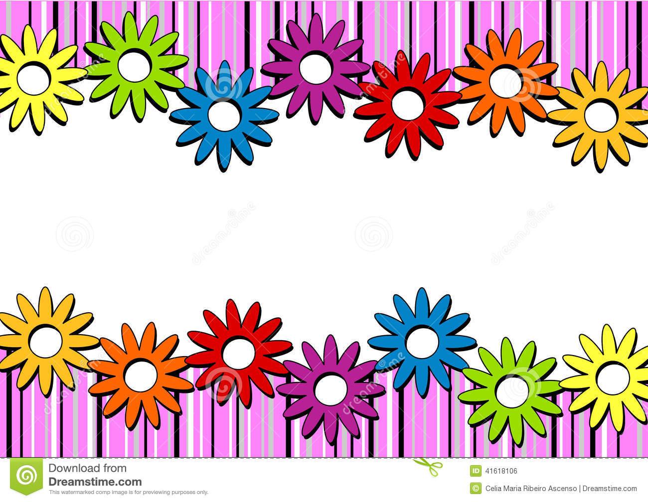 Horizontal flower border clipart 5 » Clipart Station.