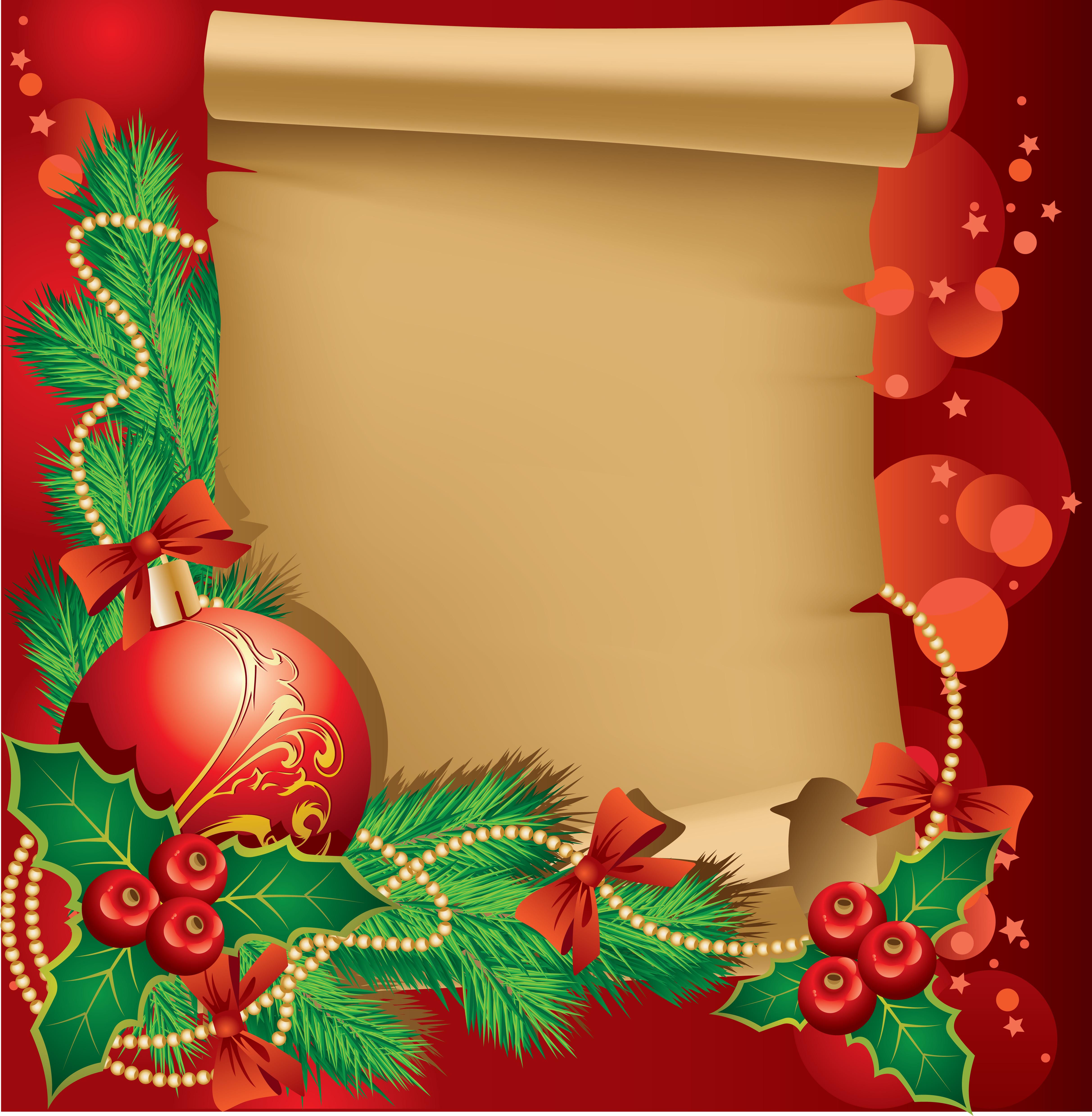 Horizontal Christmas Tree Border Clipart.