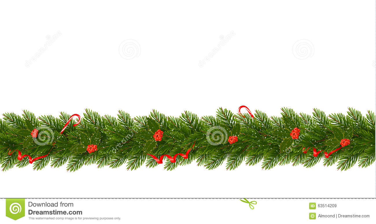 Horizontal Christmas Border Royalty Free Stock Images.