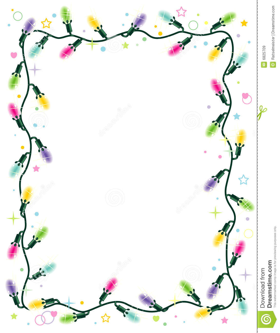 Horizontal Christmas Tree Border Clipart