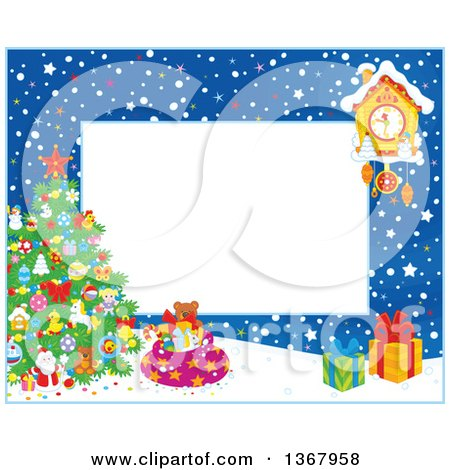 Royalty Free Christmas Frame Illustrations by Alex Bannykh Page 1.
