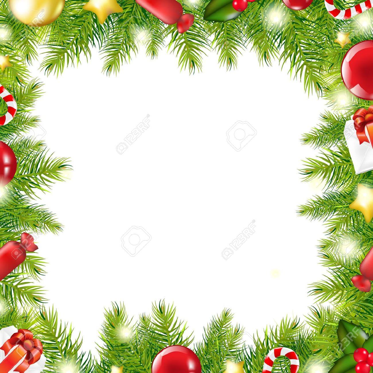 Christmas Border Clipart Horizontal.