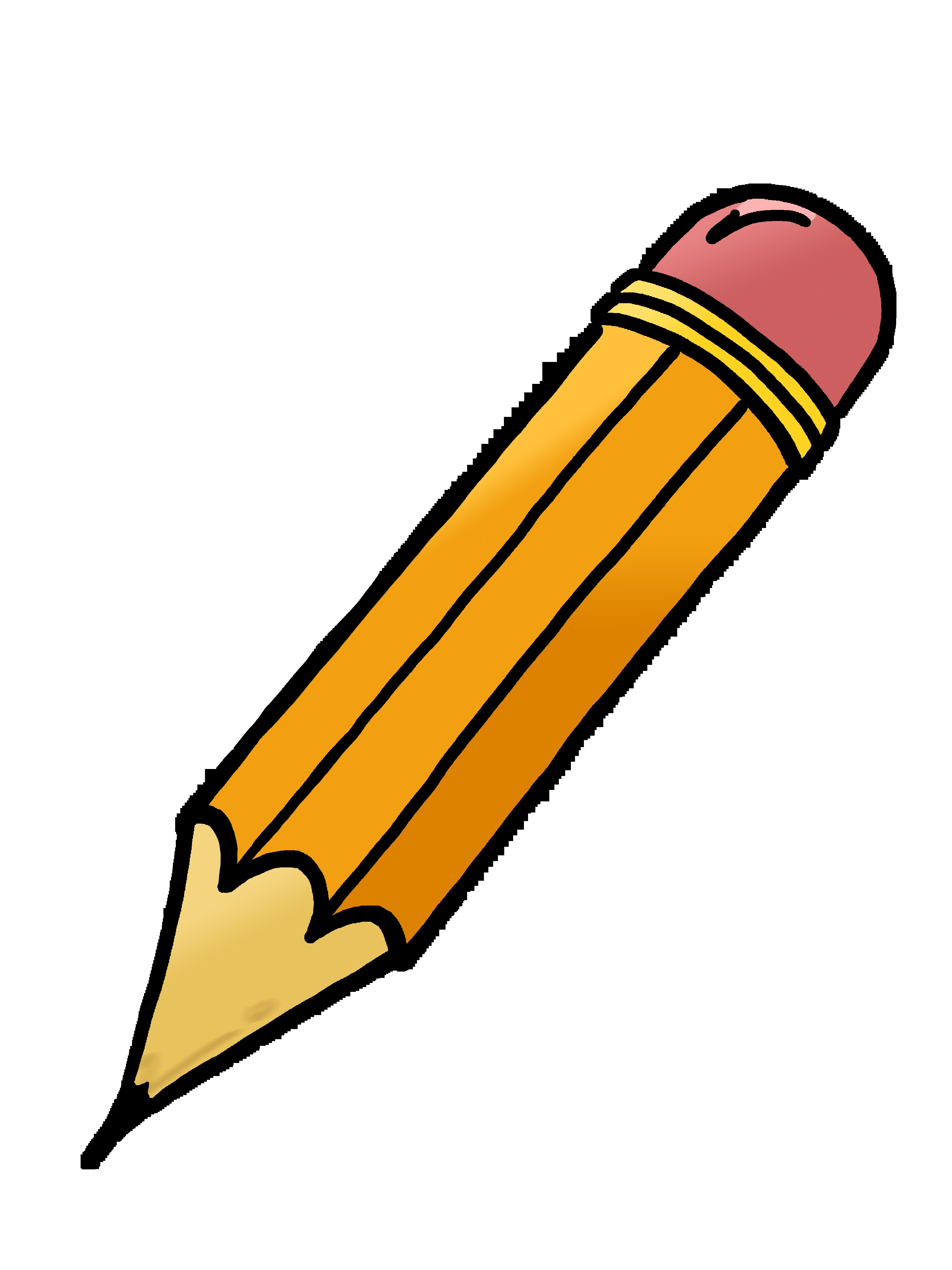 Horizontal Pencil Clip Art.