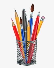 Pencil Clipart Pen Horizontal Graphics Illustrations.