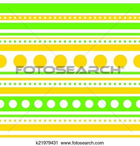 Clipart of Vector horizontal stripes and circles seamless.