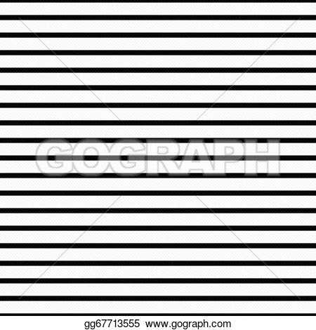 Horizontal black and white striped clipart.