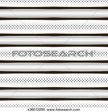 Clipart of Seamless geometric pattern with horizontal stripes and.