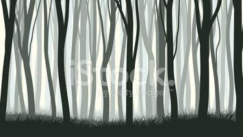 Horizontal Illustration With Many Trunks stock vectors.