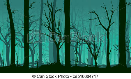 Vector Clip Art of Illustration of deadwood forest..