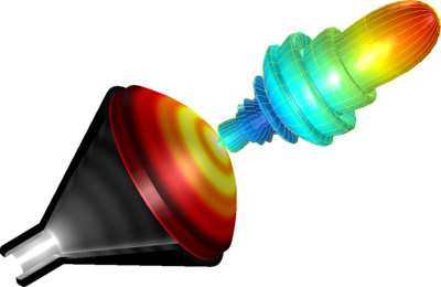 Fast Numerical Modeling of a Conical Horn Lens Antenna.