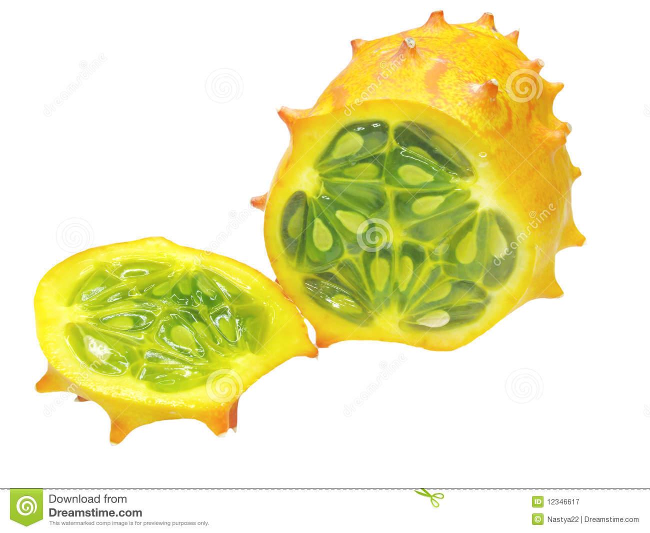 Horned Melon Fruit Stock Photos.