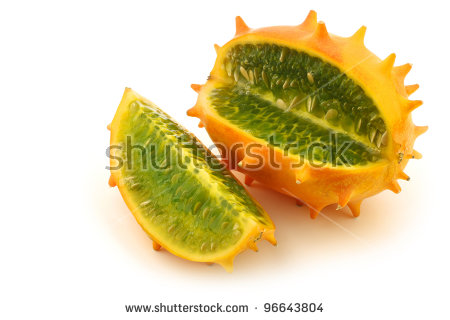 Horned Melon Stock Images, Royalty.