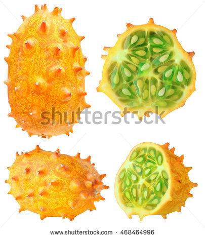 Horned Melon Stock Photos, Royalty.
