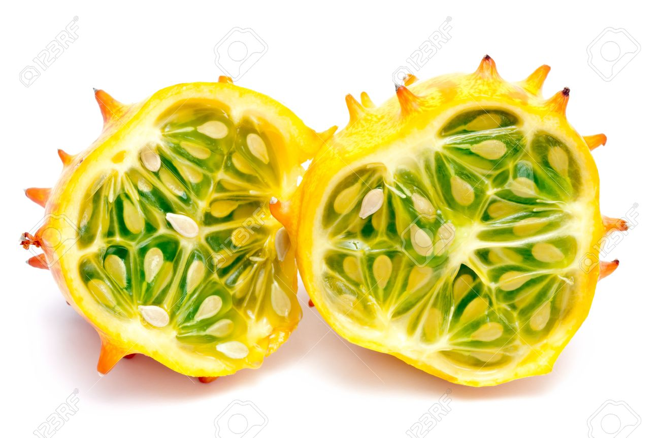 Horned Melon Isolated On White Ground Stock Photo, Picture And.