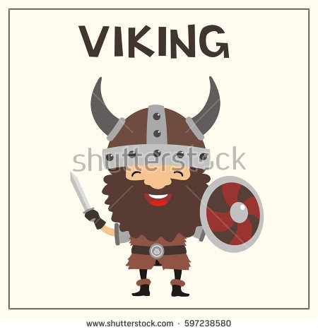 Viking Horn Stock Images, Royalty.