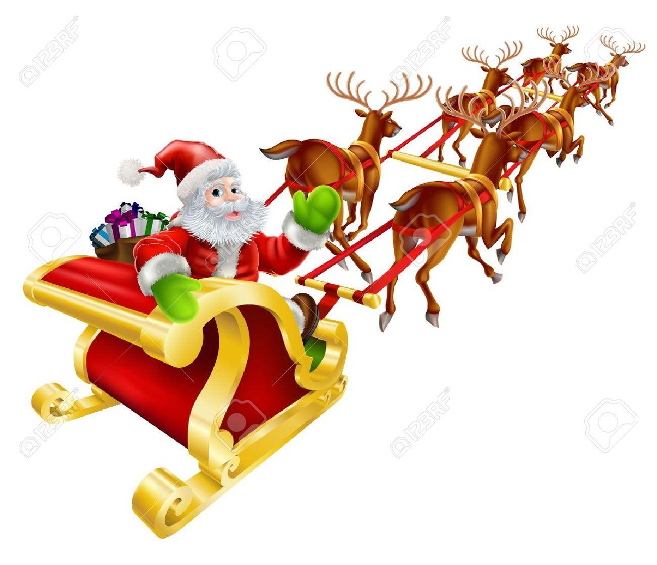Horn sledge clipart #6