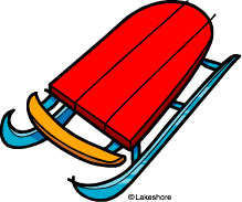 Red Sled Clipart.