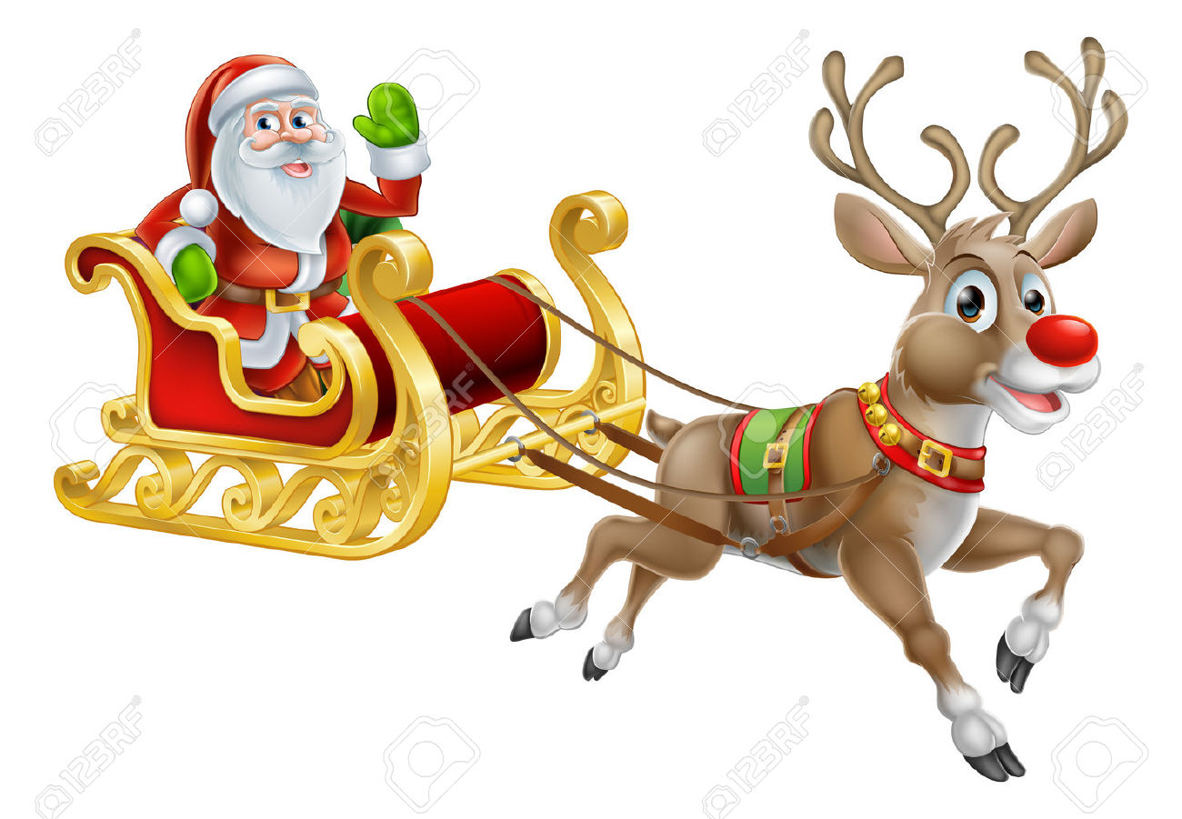 2,295 Reindeer Sled Stock Vector Illustration And Royalty Free.