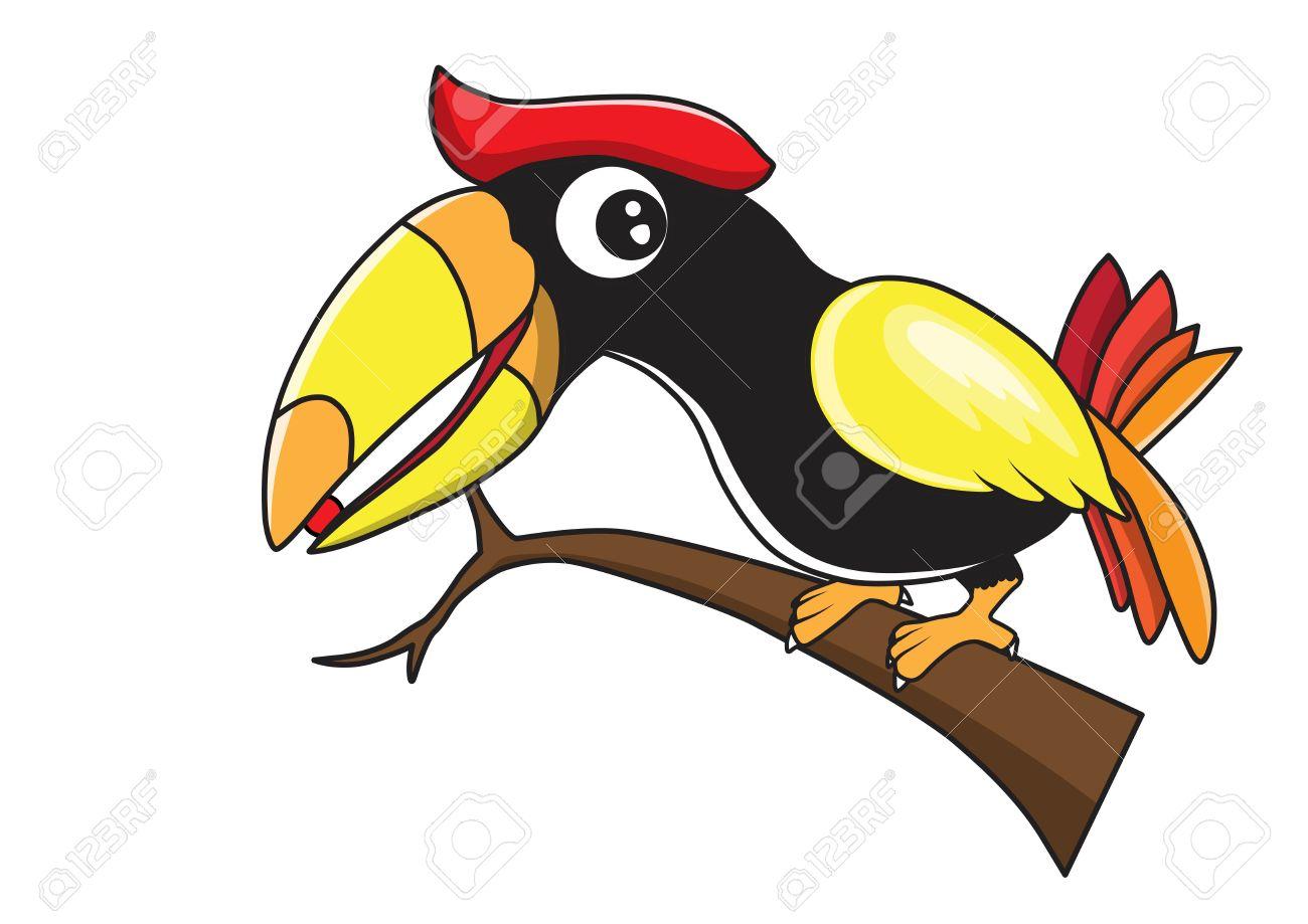 Hornbill Cartoon Royalty Free Cliparts, Vectors, And Stock.
