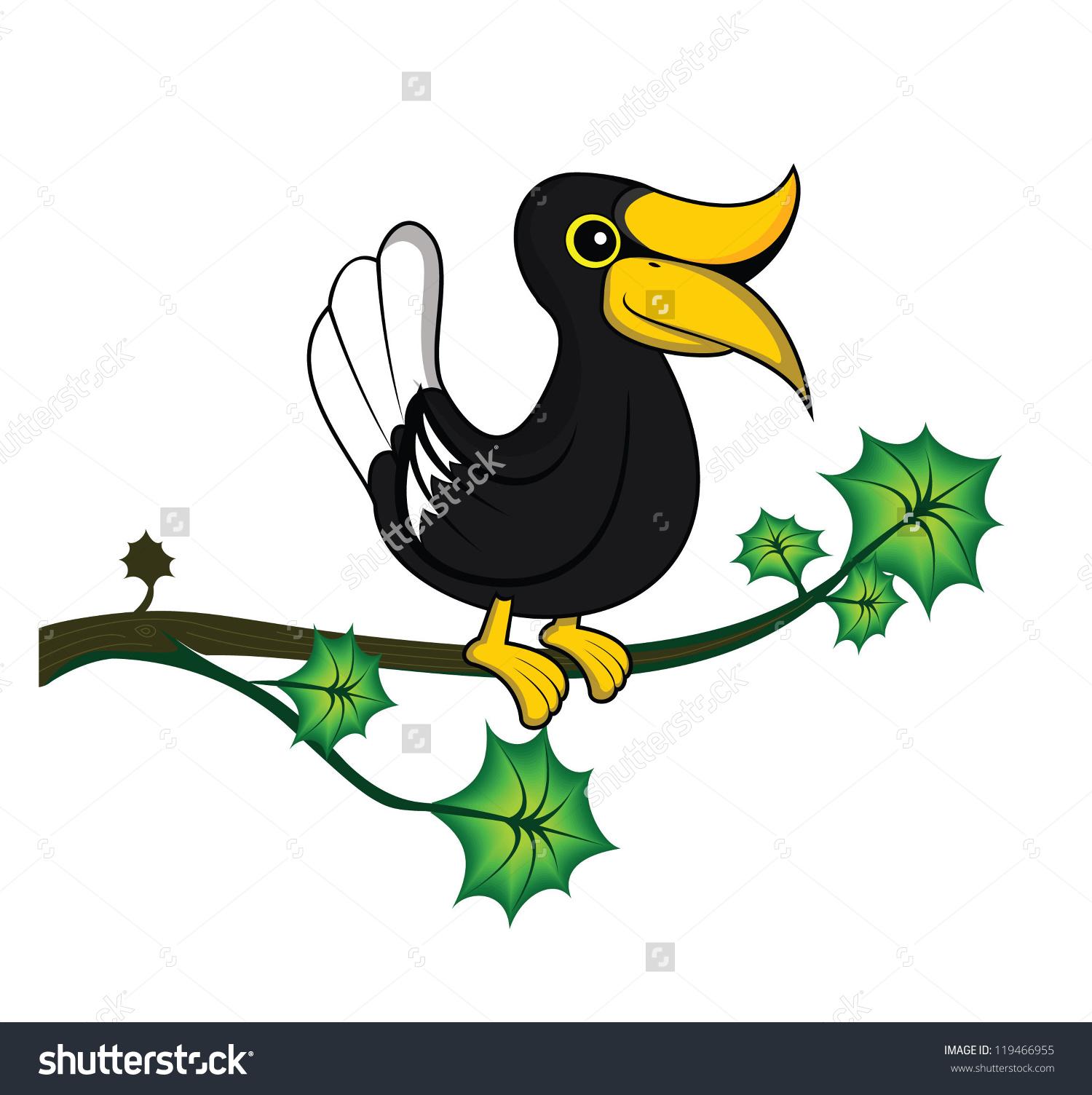 African Hornbill Clip Art.
